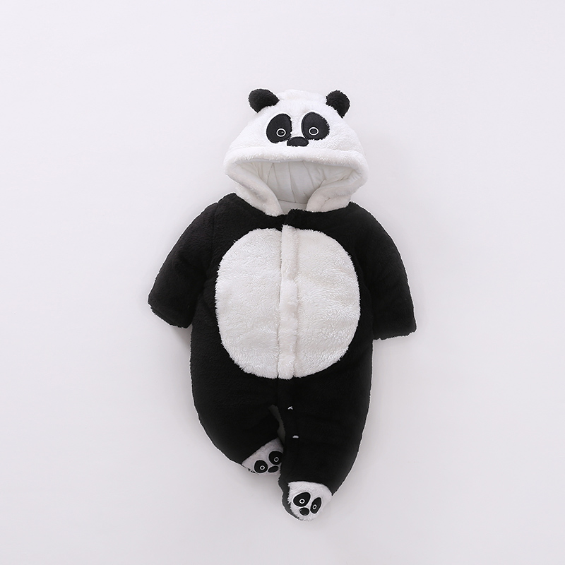 Panda Infant Romper Baby Boys Girls Jumpsuit New born Clothing Hooded Toddler Baby Clothes Cute Panda Romper Baby Costumes baby girl romper solid pink blue cute cartoon rabbit design christmas romper toddler baby girls jumpsuit boutique baby clothes