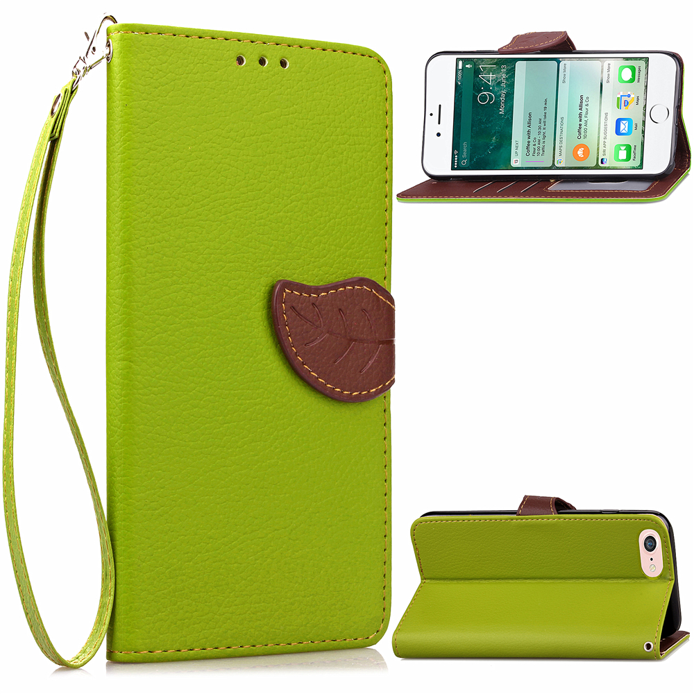 Luxury Flip Leather Holder Phone Case For IPhone 7 5C 5S SE 6 6S Plus Wallet Card Slots