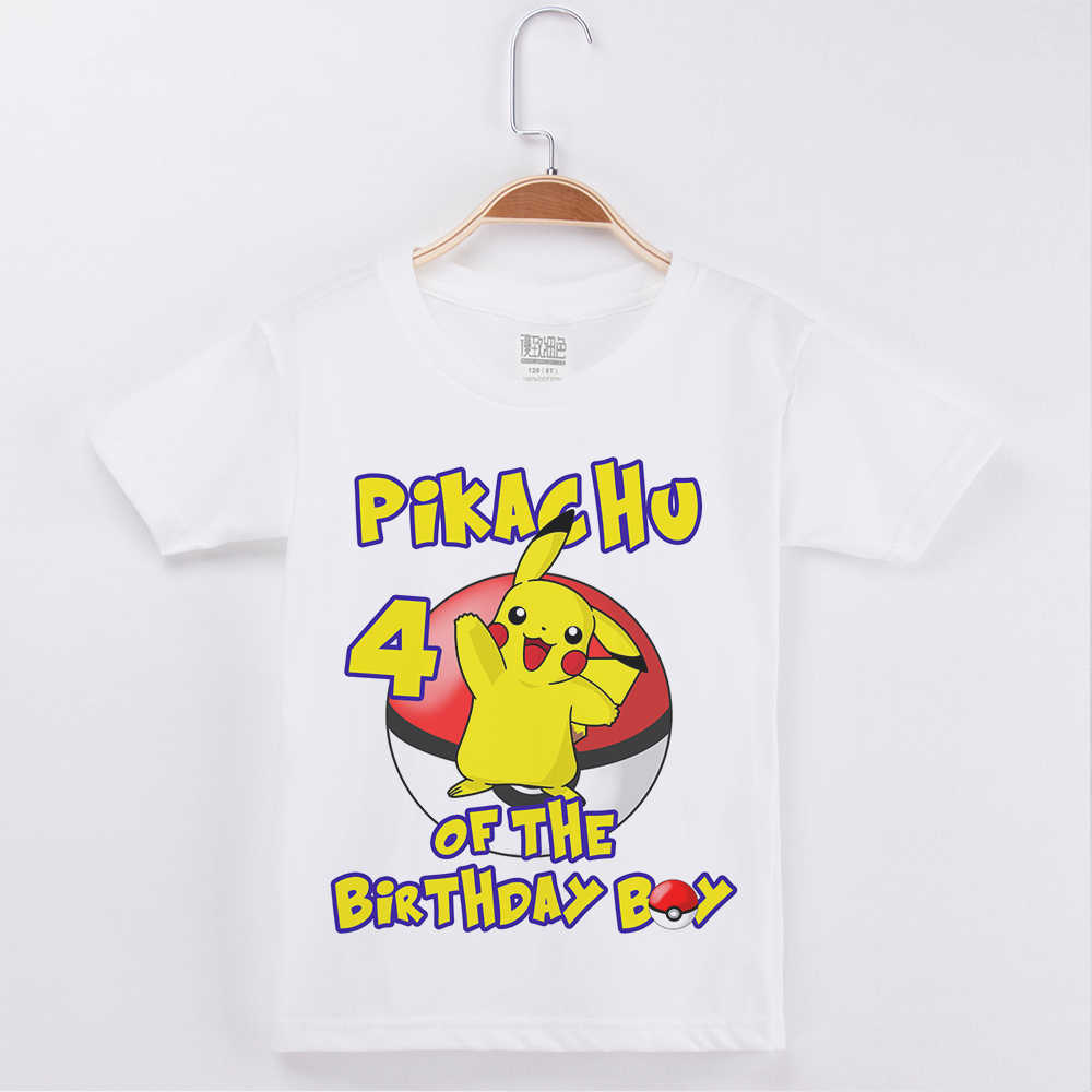 54fc23a4 Happy Birthday T-Shirt For Girls Cotton O-Neck Children Clothing Kids  Clothes Tops