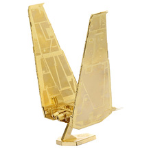 Gold Kelo shuttle model laser cutting 3D puzzle DIY metalic spacecraft jigsaw free shipping Star war