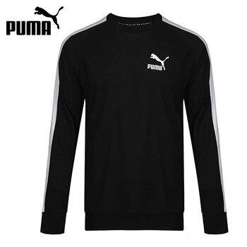 Original New Arrival 2018 PUMA  Classics T7 Logo Crew TR Men's Pullover Jerseys Sportswear