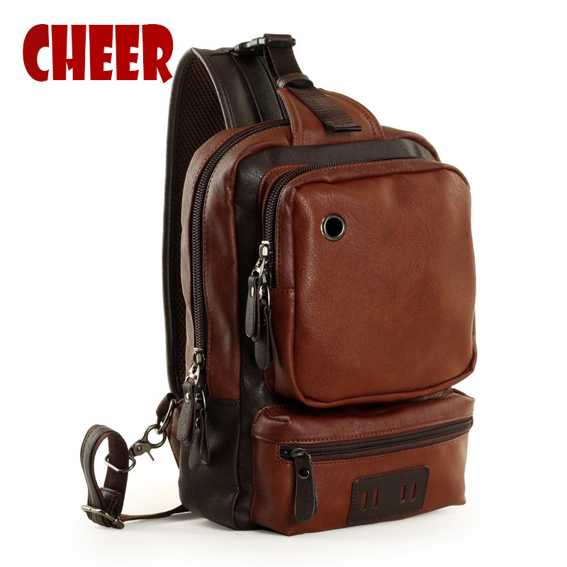 2017 새로운 패션 어깨 남자 메신저 가방 PU 가죽 포트폴리오 학교 청소년 남성 여행 가방 대용량 높은 품질