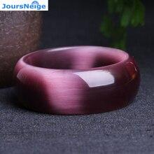 Настоящий темно-фиолетовый натуральный камень кошачий глаз, браслеты с кристаллами, счастливый подарок для женщин, помощь в деловом стиле с кристаллами, браслет, ювелирное изделие