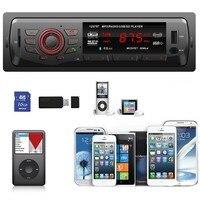In Dash Car Audio Multiple EQ Scene Selection Bluetooth Stereo Head Unit MP3/USB/SD/AUX/FM Input AUX
