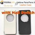Ulefone Caso Paris X Caso Janela aberta com Hall Switch Flip Tampa Traseira Do Caso de couro para Ulefone Paris/Paris Ulefone Lite
