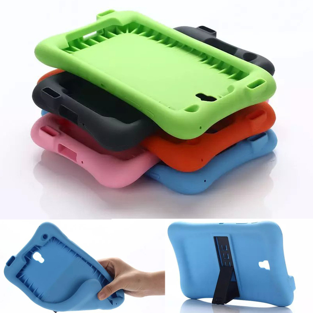 New Kids Children Soft Silicone Shock proof Stand Case Cover for Samsung Galaxy Tab S 8.4 SM-T700 T705 case + Stylus pen