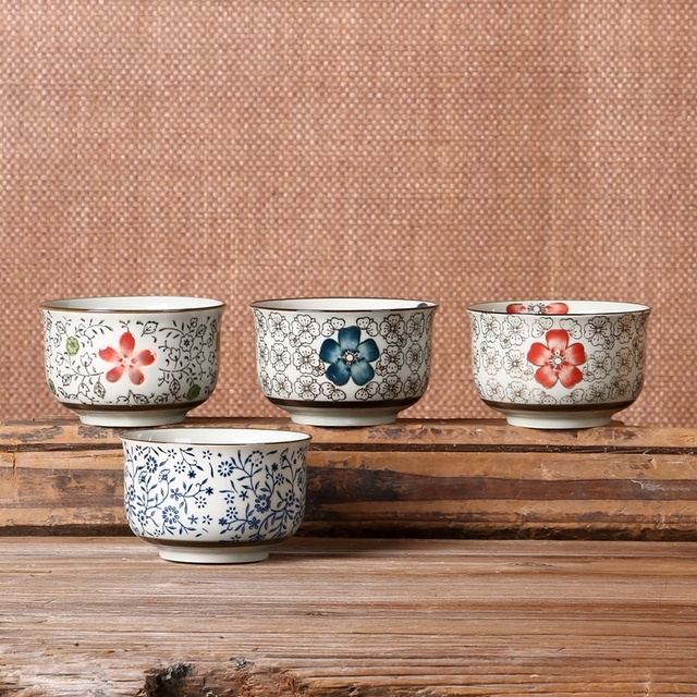 Porcelain Bowl Soup Rice Noodle 4.25u0027u0027 Food Container Korean Style 4 Pattern Designs Creative & Porcelain Bowl Soup Rice Noodle 4.25u0027u0027 Food Container Korean Style 4 ...