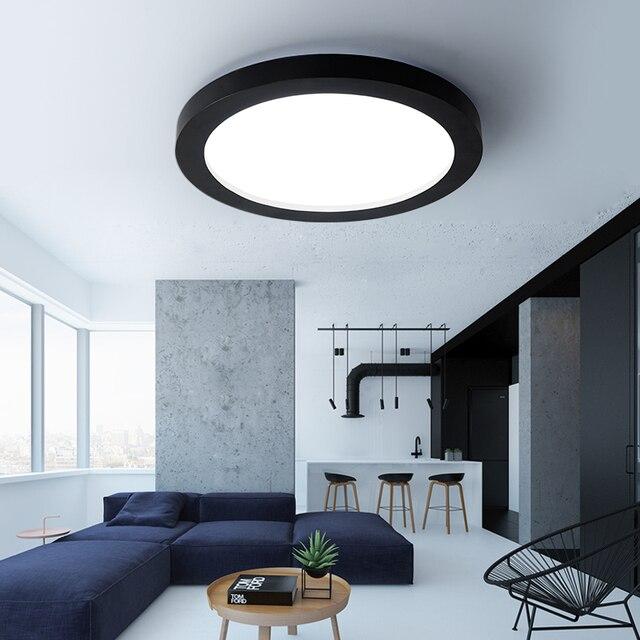 Moderne LED Dimmbare Deckenbeleuchtung Schwarz Und Weiß Dia35 65cm Küche  Wohnzimmer Schlafzimmer Decke Beleuchtung Eisen