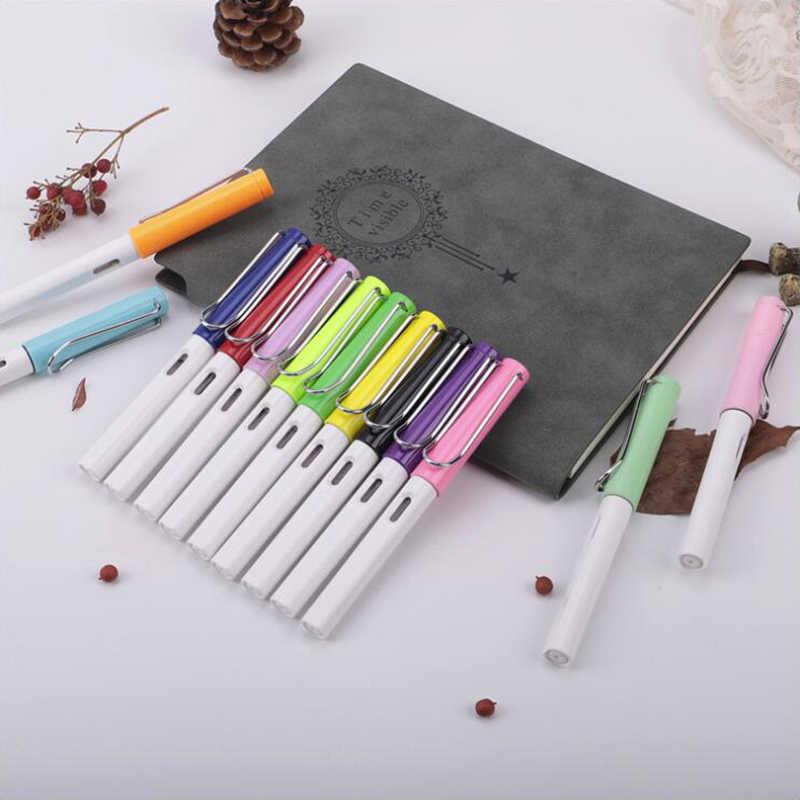 تغيير كبسولة قلم حبر حبر ملون اللون 0.5 مللي متر القلم للكتابة السلس مكتب القرطاسية واللوازم المدرسية 1 قطعة/المجموعة