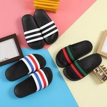 Летние тапочки для мальчиков и девочек детские ПВХ резиновые Разноцветные Детские домашние сандалия для ванной Детские вьетнамки