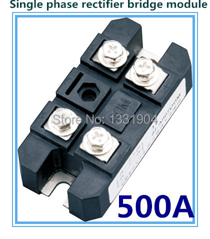 free shipping 500A Single phase Bridge Rectifier Module MDQ 500 welding type used for DC and rectifying power supply free shipping intelligence module fs50r12kt3 fs50r12ke3 used disassemble