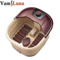 Luxury Foot Spa Bath Massager Bub with Infrared Heat Heated Foot Soak + 12 Rolling Massage Wheels