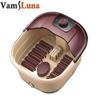 Luxury Foot Spa Bath Massager Bub with Infrared Heat Heated Foot Soak + 12 Rolling Massage Wheels
