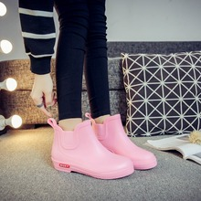 цены Spring and autumn rain women low Korean version boots anti-skid short water shoes waterproof shoes rubber shoes