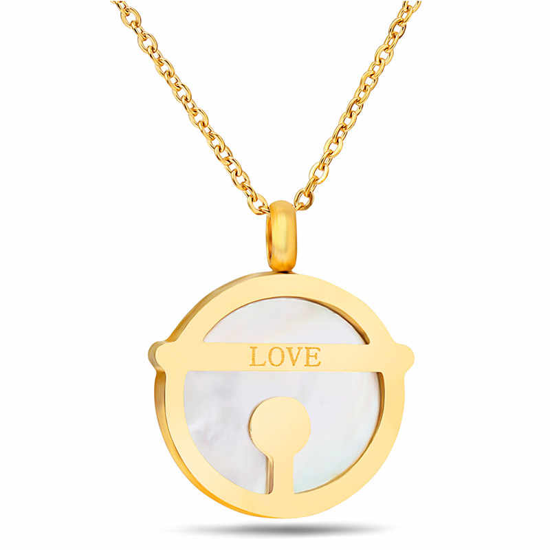 Zorcvens Baru 316L Stainless Steel Shell CINTA Perhiasan Wanita Warna Emas Kalung Stud Earrings Pernikahan Perhiasan Set untuk Wanita