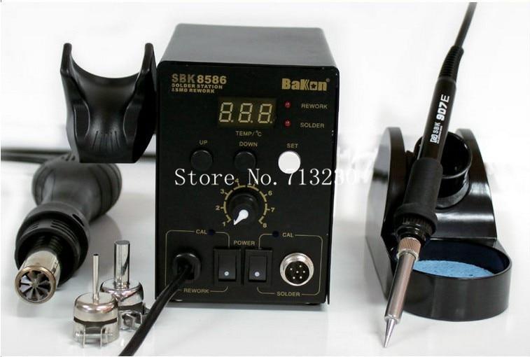 2 in 1 SMD Hot Air Soldering Iron Station, rework station SBK8586 professional manufacturer все цены