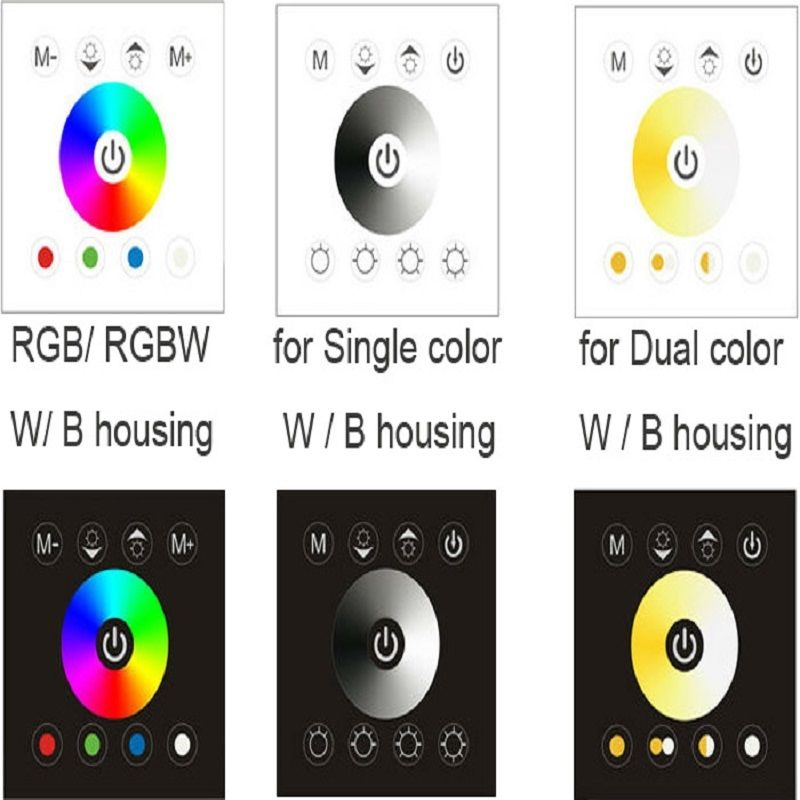 NEW Wall Mounted Acrylic Touch Panel LED Controller Dimmer Switch for RGB/RGBW автоинвертор ks is finvy ks 051 500вт с 12в на 220в