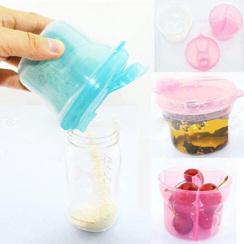 1Pcs Portable Milk Powder Formula Dispenser Food Container Feeding Storage Box 3 Layer Leakproof Travel Storage Box For Toddler