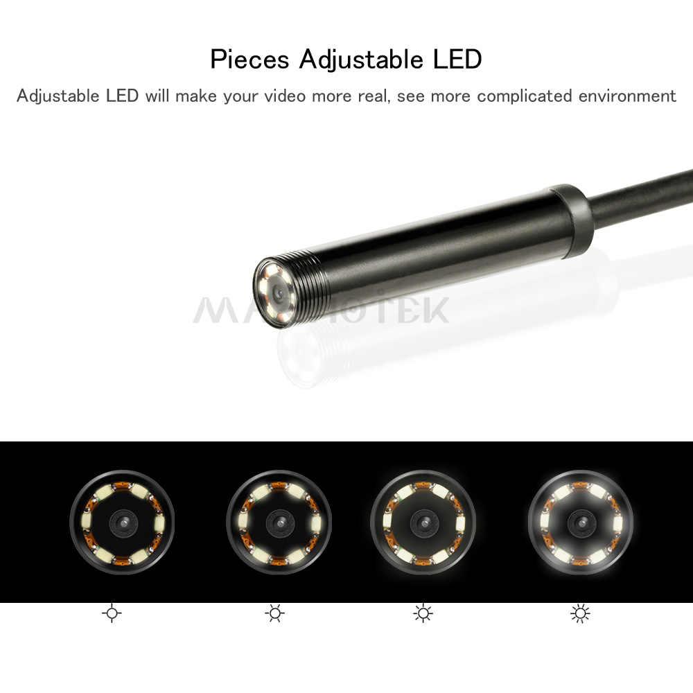 2 в 1 USB эндоскоп камера для смартфона змея USB осмотр бороскоп автомобиля уха обнаружения 7 мм 6 led 2 м 5 м 10 м эндоскоп USB