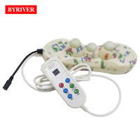 BYRIVER Jade Tourmaline Tourmanium 3 Ball Handheld Ceramic Projector Massager with Heating and Vibrating Electric