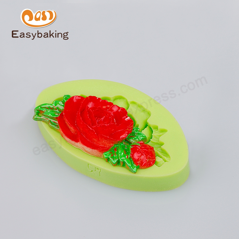 Baking Accessories 2016 Cheap Wall Crafts Rose Leaves Cake Decoration Silicone Fondant Mould