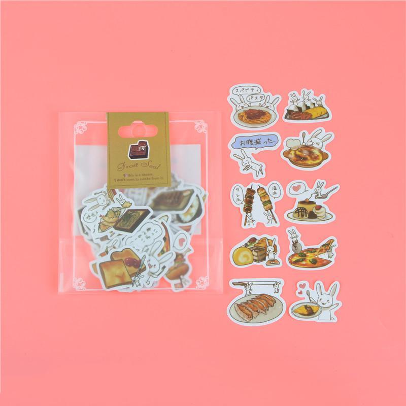 1 пакет, милые Мультяшные декоративные наклейки в Корейском стиле, клейкие наклейки, скрапбукинг, сделай сам, декоративные наклейки для дневника - Цвет: L