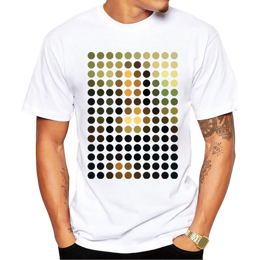 Мода Мона Лиза Remix Дизайн Для мужчин Прохладный топы Повседневная футболка ...