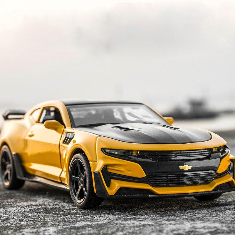 1:32 KIDAMI Camaro aleación Diecast modelo de coche Pull Back juguetes de colección para los niños, niños y Adultos oyuncak araba regalo hot wheels