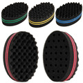 Double Wave Magic Hair Twist Sponge Dreads Twisting Locks Dreadlocks Curl Brush Sponge O123
