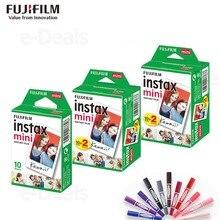 Originale Fuji Fujifilm Instax Mini 9 Pellicola Bordo Bianco Foto Papers Per Mini 9 8 7 s 90 25 55 condividere SP 2 Macchina Fotografica Istantanea 50 fogli