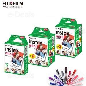 Image 1 - Orijinal Fuji Fujifilm Instax Mini 9 Film Beyaz Kenar Fotoğraf Kağıtları Mini 9 8 7 s 90 25 55 payı SP 2 Anlık Kamera 50 yaprak