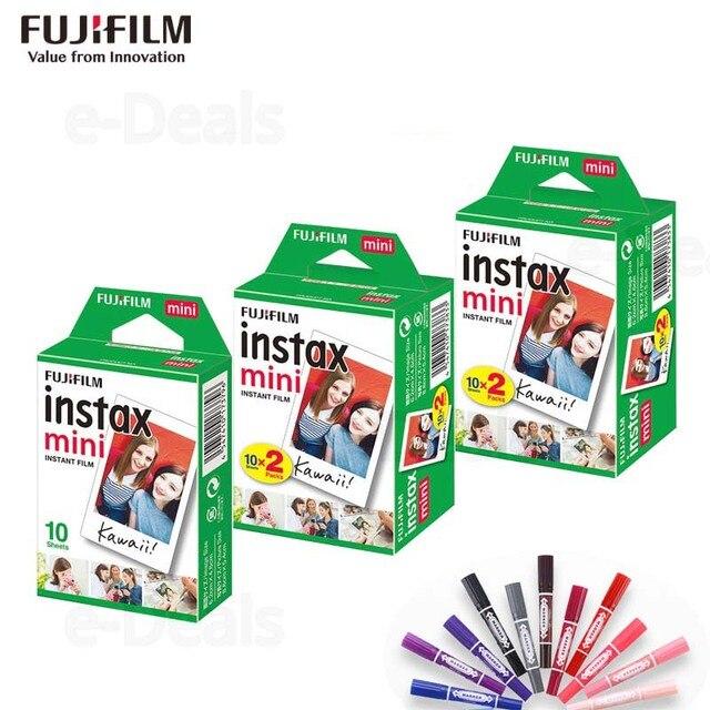 Orijinal Fuji Fujifilm Instax Mini 9 Film Beyaz Kenar Fotoğraf Kağıtları Mini 9 8 7 s 90 25 55 payı SP 2 Anlık Kamera 50 yaprak