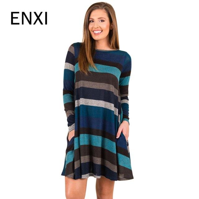 c742f9c7d Invierno de manga larga a rayas otoño vestidos de maternidad de ropa  embarazada vestidos para el