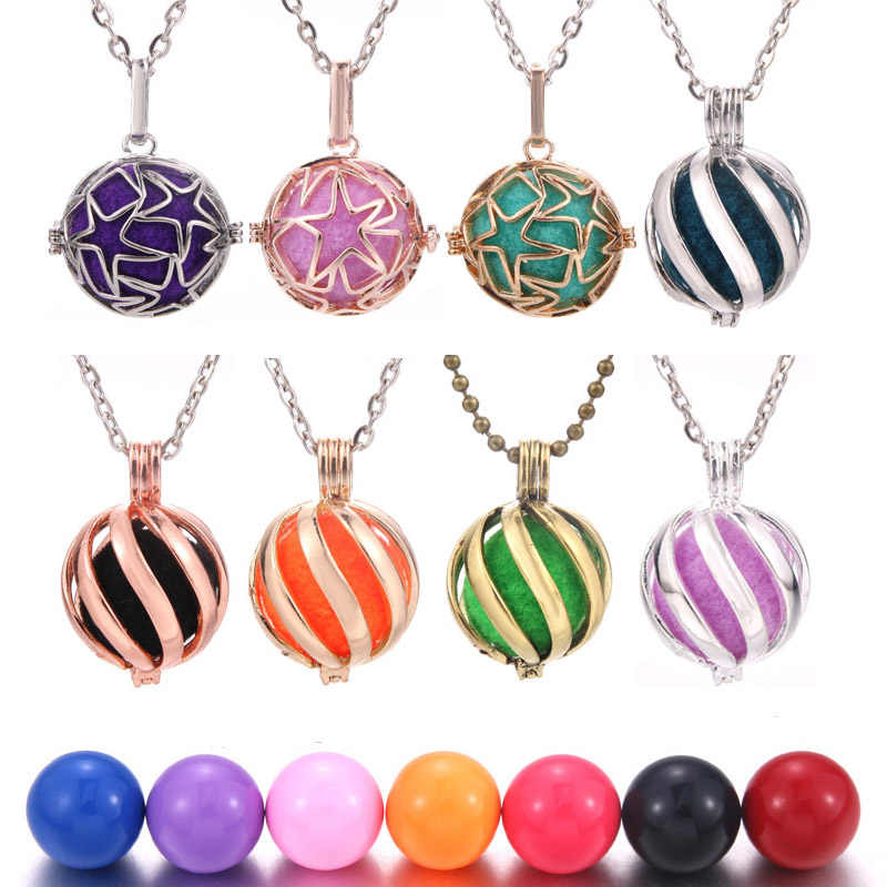 2019 New Star Mexico Chime Music Ball Caller Cages Necklace Vintage Heart Necklace for Aromatherapy Essential Oil Pregnant Women