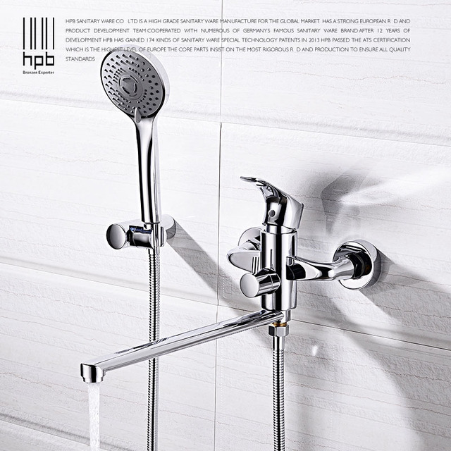 HPB Brass Bathtub Faucets Bathroom Bathtub Faucets Sets Bath Shower ...
