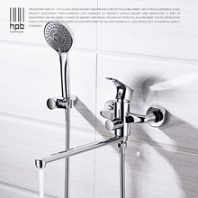 HPB Brass Bathtub Faucets Bathroom Bathtub Faucets Sets Bath Shower Mixer with Hand Shower Single Handle Hot and Cold DR5A03