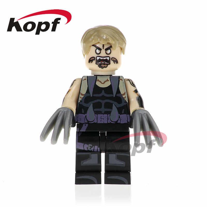 Single Sale Super Heroes Sabretooth X-Men Colossus Cable Lucas Bishop Bricks Building Blocks Collection Toys for children PG300