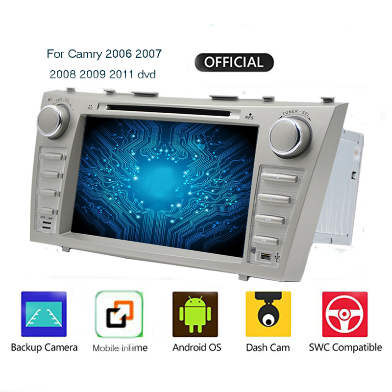 2 din 2G+16G 4Core/Android 9.0 HD Stereo TouchScreen Car Autoaudio for Toyota Camry/Aurion 2007 2011 Car Multimedia Player