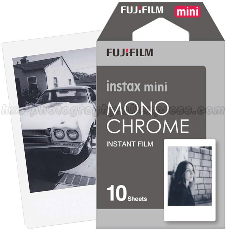 New Fujifilm Fuji Instax Mini 8 Film Monochrome 10pcs For Mini 8 7s 7 50s 50i 90 25 dw Share SP-1 Polaroid Instant Photo Camera original 40 sheets fujifilm instax mini 8 films white edge 3 inch for instant camera 7 9 25 50s 70 90 sp 1 sp 2 photo paper