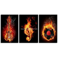 3 Panels Pictures 100 Handpainted High Quality Large Abstract Music Paintings On Canvas Art Wall Picture