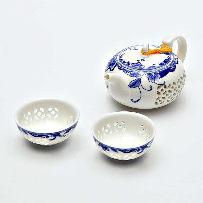 TANGPIN สีฟ้าสีขาวประณีตเซรามิคกาน้ำชากาต้มน้ำชาถ้วยพอร์ซเลนจีน kung fu ชาชุด drinkware