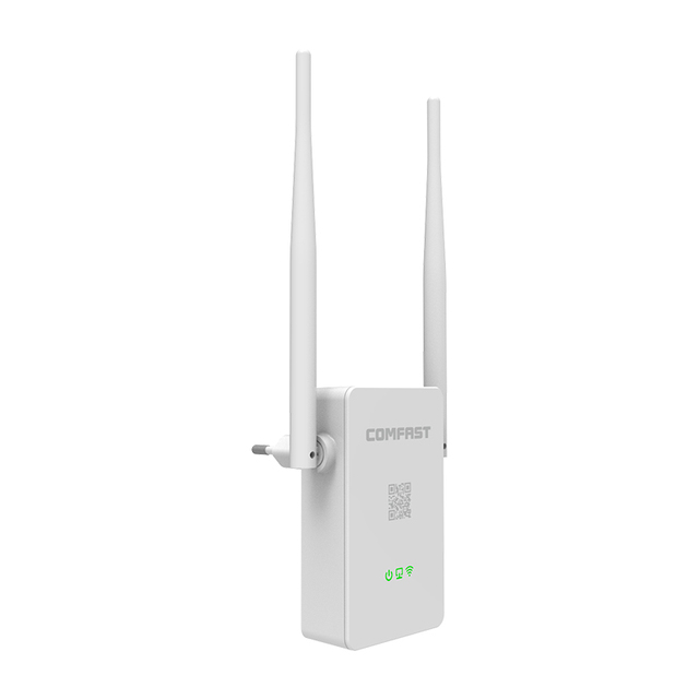 New 300Mbps WiFi Repeater Network Range Extender Booster COMFAST CF-WR302S Single Increase Dual External Antennas EU US Plug