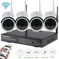 Sunchan plug and play hd $ number canales nvr 960 p inalámbrica visión nocturna cctv sistema al aire libre cámara de seguridad inicio de vigilancia wifi kit