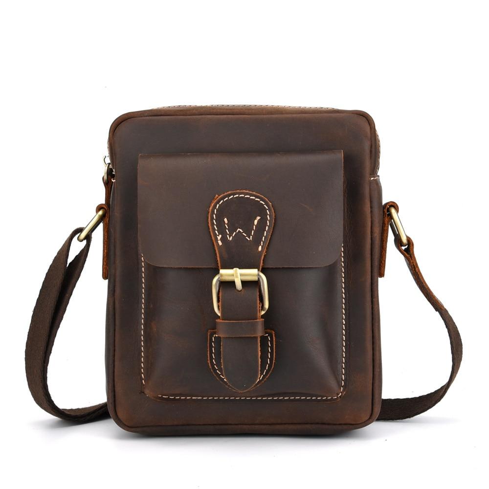 Messenger Bag Men's Genuine Leather Shoulder Bag for Men Leather Fashion Male Crossbody Handbag Travel Bolsas Sling Chest Clutch