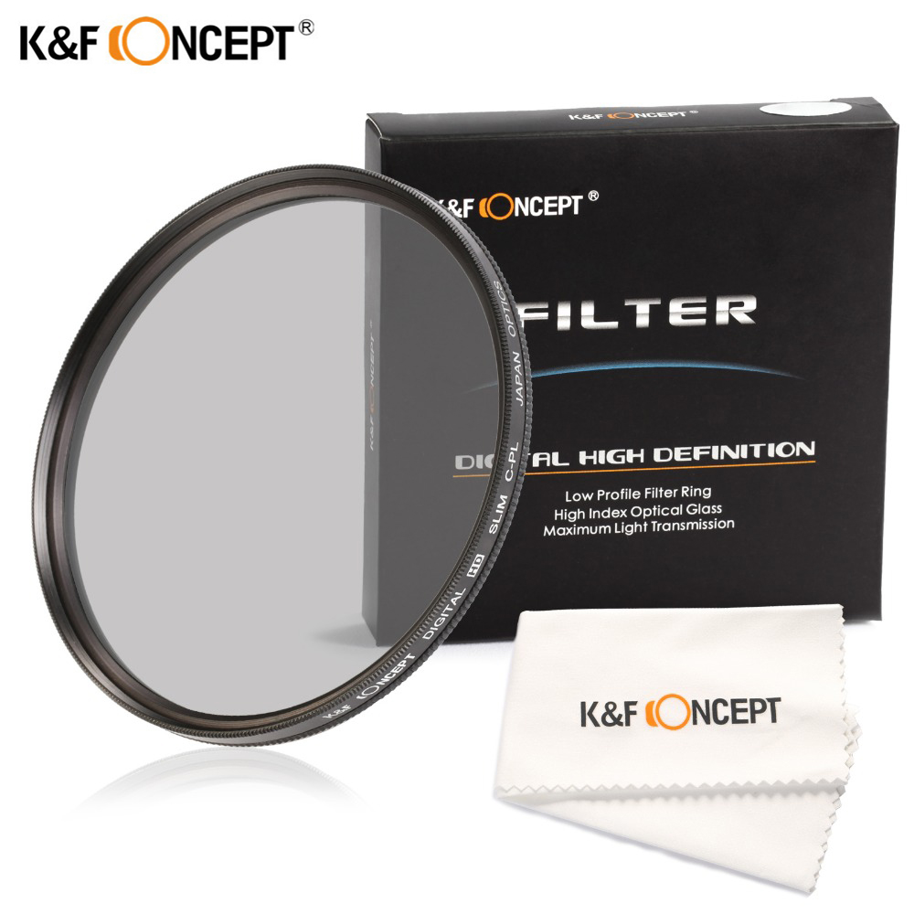 K&F Concept Super Slim CPL Camera Polarizer <font><b>Lens</b></font> Filter 37/40.5/43/49/52/55/58/62/67/72/<font><b>77</b></font>/82mm For Nikon Canon Sony DSLR Camera image