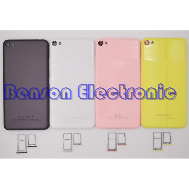imágenes para BaanSam Nueva Batería de La Contraportada + Bandeja de la Tarjeta SIM Bandeja de la Tarjeta Micro SD Para Lenovo S60 S60-T/W/una Vivienda Con Botones de Volumen de Energía