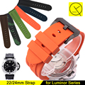 22mm 24mm Acessórios de Borracha de Silicone Watch Band para Panerai Luminor Série Correias PAM00112 PAM00389 PAM111 Pulseiras + Free ferramentas