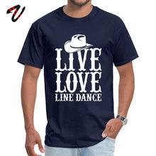 Rife Mens Tees Live Love Line Dance Printed On T Shirts Just Half Life Sleeve Normal Tops Shirt O Neck Free Shipping