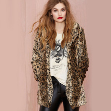 2016 new fashion Winter Women Coat Fur Coat Domineering Feral Faux Fur Leopard Coats Fashion Warm Outwear fox fur coat hot sale