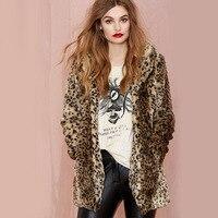 Winter Women Coat Fur Coat Domineering Feral Faux Fur Leopard Coats Fashion Warm Outwear